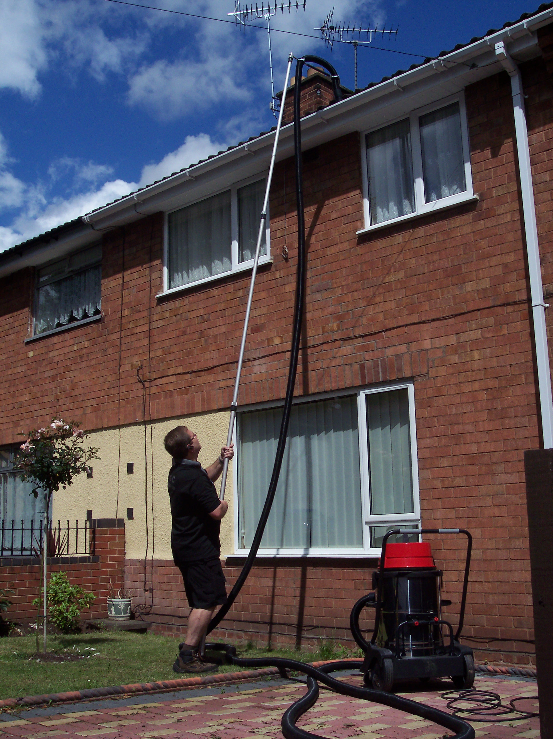 Gutter Cleaning - Upper Glass Cleaning-Extraordinary Cleaners